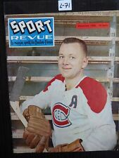 HOCKEY SPORT REVUE 1956 COVER DOUG HARVEY  MONTREAL CANADIEN   L71