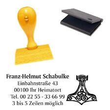 Adressenstempel « THORS HAMMER » mit Kissen Wikinger German Gothic Skandinavien