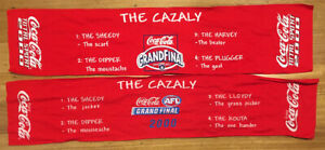 AFL 'The Cazaly' Coca Cola Banners Bar Runner Grand Final 1999 + 2000 Runners