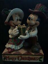 Disney traditions jim shore Mickey mouse e Minnie MERRY CHRISTMAS