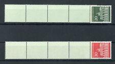 BUND Nr.507v+508v ** ROLLENMARKE mit 4 LEERFELDERN - siehe Foto ! (136020)