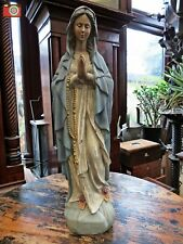 Large Praying Mary Antique Style Figure. Great Patina. Madonna, Maria. Our Lady
