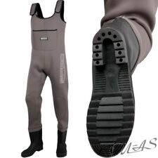 SPRO 4mm Neoprene Chest Wader PVC BOOTS Gr. 45 Wathose By Tackle-deals