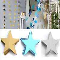 13ft Star Paper Garland Banner Bunting Drop Baby Shower Wedding Party Decor TR