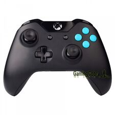 Matted Sky Blue A B X Y + Guide Buttons Replacement for Xbox One Controller New