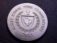 RARE (Turkish Rep.) Northern Cyprus 2011 20 Lira Sultan II Selim Nice Token/Coin
