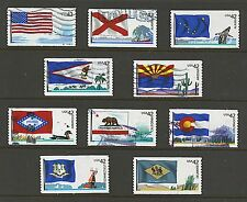 Scott #4273-4282 Used Set of 10, Flags of Our Nation Set #1