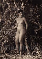 1925 Original Vintage Print SAMOA FEMALE NUDE ~ South Pacific Photo Gravure Art