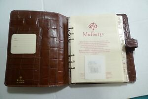 MULBERRY - A5  LEATHER  PLANNER CONGO WITH BOX & INSERTS  - TEAK- MADE IN UK