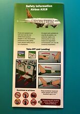 FRONTIER AIRLINES SAFETY CARD--AIRBUS 319-- 2010 REV