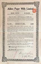Alders Paper Mills Limited > 1928 British India bond certificate
