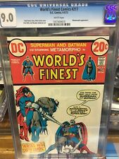 Worlds Finest #217 cgc 9.0 white pages 1973