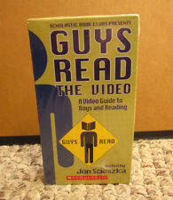GUYS READ gender issues Scholastic VHS Jon Sciezka classroom discussion NEW