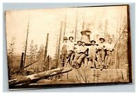 Vintage 1920's RPPC Postcard Prohibition Bootleggers Still in Countryside