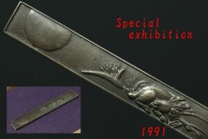 Japan Antique Deer kozuka handle katana sword koshirae samurai yoroi tsuba Edo
