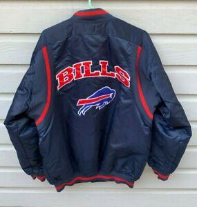 VTG Buffalo Bills NFL Nylon Satin Bomber Jacket Medium