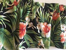 Cypress Floral in Midnight Window Curtain Valance  52 x 16