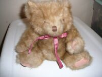 "Teddy Bear Mary Meyer Jointed 11"" 1992 Brown Perfect Condition"