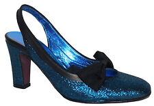 Luc Berjen  Blue Lame Closed Toe Sandal UK 4 EU 37 SP £165 Display Pair
