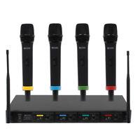 RM Quartet Quad Handheld Wireless Radio Microphone System MIC80