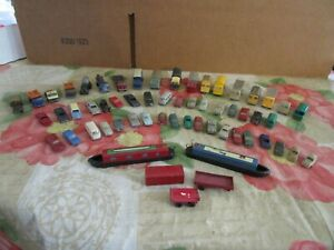 55 Assorted Plastic, N Scale, Vehicles, Some Wiking.