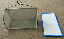 Wire Mesh Shelf and Dry Erase Board w/ Magnets for side of file cabinet/locker