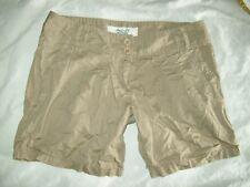"AMERICAN RAG Pleated shorts Khaki Brown Woman's Size 5 Active wear 32"" waist"