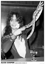 "Alice Cooper / snake  NEW 84cm x 60cm (34"" x 24"") b/w POSTER"
