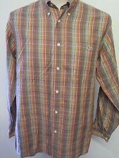 Genuine Vintage Men's Lacoste Check Cotton Shirt Long Sleeved M 38-40 Euro 48-50