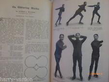 ICE Patinaje artístico Raro Antiguo Foto ilustrado el artículo 1906 George un Meagher