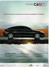 Publicité advertising 2007 Citroen C6 HDi