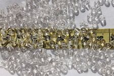 2/0 Old Time Vintage Venetian Crystal Clear Seed Beads/1oz
