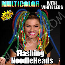 MULTICOLOR LED LIGHT UP NOODLE HEADBAND FLASHING RAVE PARTY DIVA DREADS