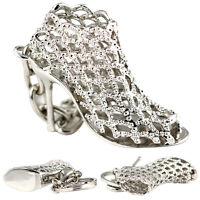 Beauty Hollow Pumps High Heels Shoes Keychain Keyring Key Chain Ring Fob N Jf