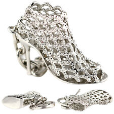 Beauty Hollow Pumps High Heels Shoes Keychain Keyring Key Chain Ring Fob RD