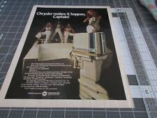 1970 Chrysler outboard motors Print Ad, Chrysler makes it Happen, Captain !