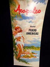 1950s Color Brochure Acapulco Hotel Prado Americas