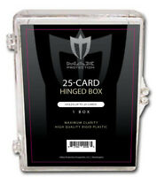(25) Max Pro 25 Count Hinged Trading Card Storage Box Case Holder Protect