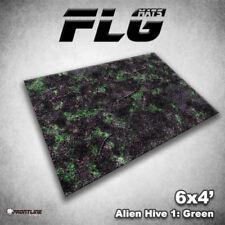 FLG Mats: Alien Hive Green 6x4' High Quality Neoprene Tabletop Gaming Mat