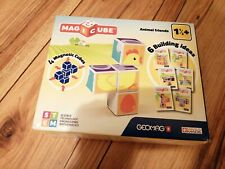 RARE GEOMAG MAGICUBE ANIMAL FRIENDS NEW SEALED MAGNETIC CUBES 6 BUILDING IDEAS