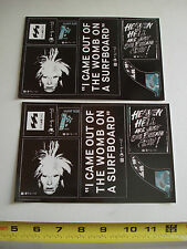 Andy Warhol /Billabong Sticker Vinyl Decal  sheet 2 units
