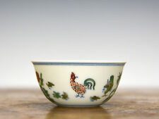 Fine Chinese Ming Style Chenghua MK Doucai Porcelain Chicken Cup