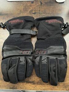 Harley Davidson  Winter Motorcycle Riding  Black Gloves Men's 2XL