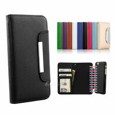 Glossy Mobile Phone Wallet Cases for iPhone 7 Plus
