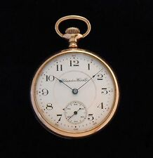 Hampden Pocket Watch 16 size 15 jewels Open Face Gold Filled Running 1911