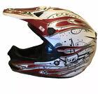 HJC Cl-x5n Fang MC1 Motocross Helmet W Visor S Small Red White Graffiti Scull