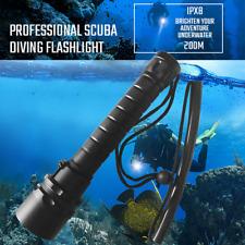 80000LM Scuba LED Diving Flashlight T6/L2 Portable Dive torch 200M Underwater