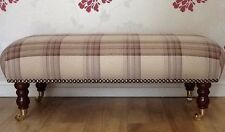 Long Footstool Stool In Laura Ashley Brodie Raisen Fabric