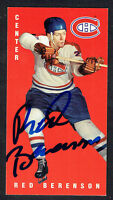 Red Berenson #80 signed autograph auto 1994 Parkhurst Tall Boy Hockey Card
