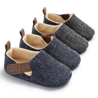 US Baby Soft Sole Crib Shoes Infant Boy Toddler Sneaker Anti-Slip 0-18 Months